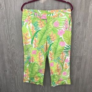 Lilly Pulitzer cotton capris palm leaf design 6